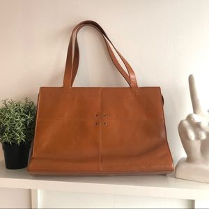Vintage BCBG brown leather tote